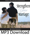 "Strengthen Your Marriage  by Steve Wood  In every marriage there are highs and lows, good times and difficult times. All couples struggle, and all couples need encouragement and support to keep their marriages strong. In this live presentation given to morning retreat for married couples, Steve Wood shares time-tested, practical advice with husbands and wives about strengthening their marital bond.   Topics include:  Skills for strengthening marital communication What you need to know about the ""danger years"" How the birth of a child affects your marriage How Christ can heal your marriage An effective way to lower your chances of divorce Practical tips for keeping the fire of your love burning strong  [Please note: The CD Strengthen Your Marriage is also Disc One of the CD album Help for Hurting Marriages.]"