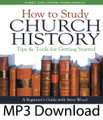 "How to Study Church History Tips & Tools for Getting Started by Steve Wood   Studying the early church fathers is a life-changing experience. Catholics are fascinated as they see their timeless faith expressed in the teaching of the ancient fathers. Thousands of Evangelical Protestants are studying the history of the early church and are developing an entirely new attitude towards Catholicism. In fact, the study of early church history is moving hundreds of Evangelicals to convert to Catholicism. Many others haven't yet embarked on this dynamic journey because they don't know where to begin or what resources to use. This CD is a beginner's guide for those who aren't yet ready to tackle Steve's Early Church Fathers 6-CD series, but want a ""how-to"" guide for beginning an exploration of the early church."