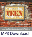 "Preventing Teen Problems by Steve Wood  Many parents fear rebellious behavior from their teenagers. Parents are worried about immorality, substance abuse, the wrong crowd of friends, loss of faith, and a host of other issues as their children progress through adolescence. Many parenting experts try to help parents ""cure"" teen problems after they have already appeared. In this audio CD, Steve Wood equips parents with practical ways they can avoid many of these problems in the first place. While there is no 100% fail-safe against rebellious behavior, there are many proven things parents can do throughout childhood that will be major investments in safeguarding their sons and daughters' faith and moral foundation throughout the teen years.  Following Steve's sage advice is a valuable step that could save parents years of heartache and headache with their teenagers."