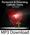 """Pentecost and Parenting Catholic Teens  Steve Wood  Parents are often led to believe that what their teens need in order to stay on the """"straight and narrow"""" is another chastity book. In reality, what Catholic teens ultimately need is to open themselves to the Holy Spirit – the seed planted at Baptism that is waiting to develop and transform their lives. On this CD you learn:   The divine answer to willful disobedience and lack of motivation What's going on in the heart of a teen that causes turmoil What's the ultimate cure for drinking problems Why just making teens """"toe the line"""" causes unnecessary rebellion What parents need to """"be"""" before for their teens change What parents need to know about what the Pope told teens at World Youth Day"""