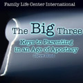 The Big Three:  Keys to Parenting in an Age of Apostasy by Steve Wood Now that society has become unhinged from faith, morals, and common sense, parents face a colossal problem in raising godly children. Yet, there is hopeful news. Catholic parenting is still possible despite the apostasy we see all around us. Many of the usual Catholic parenting strategies were good enough in the context of a society that was still basically Christian. Such strategies without The Big Three Keys to Parenting are not good enough today. All too often negative cultural influences are overpowering parental influence, causing shock and heartbreak. Concerned Catholic parents can't afford to overlook the Big Three: Keys to Parenting in an Age of Apostasy.