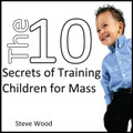 "Training Children for Mass  by Steve Wood                                       *Also available in MP3          Every Christian parent of young children has been there: you pull into the Church parking lot on Sunday morning with your small children in the back seat, and you breathe a prayer that it'll be a ""good week"" in the behavior department. You feel nervous and stressed, because little children are noisy and rambunctious, and Church is a quiet, prayerful place.   So you open your car door, unbuckle carseat belts, remind your kids to be quiet and good, and you walk up the Church steps with the faith that God understands your struggle and rejoices in the presence of little ones...even loud little ones.   Training children to behave in Mass can feel like a daunting task to any parent. That's why Steve Wood created his latest CD: 10 Secrets for Training Children for Mass. All of the 10 secrets are good, but some of them are crucial. By far the biggest and most important secret is secret #2: ""The worst place to train your children for Mass is at Mass.""    When you apply secret #2 and train the kids for Mass during the week, you're not just training them for Mass but also for life. Kids who've been trained to behave properly at Mass will also behave properly in a restaurant, in a grocery store, and in other public situations.    When children act up in these public situations, it's embarrassing for the parents. But that embarrassment can be avoided by applying Steve Wood's ""secret #2"", and others, in their daily lives.   This CD is a ""must have"" for every Catholic parent - especially those who have infants, toddlers, and small children. Steve's strategies are practical, doable, and will lead to training success.   Topics include:   Why is Mass the worst place to do the primary training for Mass?  Why is the job of training for Mass much bigger than commonly imagined?  How can a weekday afternoon snack help train for Mass? What is the proper role for rewards for good behavior in Mass? What role do dads have in training children for Mass?  Are Cheerios okay during Mass?  ...and much more."