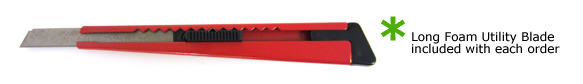 utility knife for cutting foam