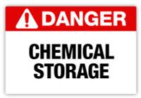 Danger - Chemical Storage Label