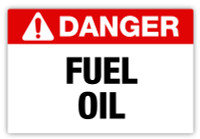 Danger - Fuel Oil Label