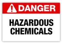 Danger - Hazardous Chemicals Label