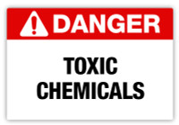 Danger - Toxic Chemicals Label
