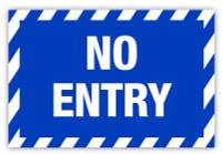 No Entry Label