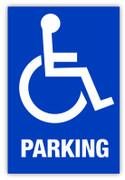 Handicap Parking Label