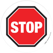 Floor Sign - Basic stop sign with black border