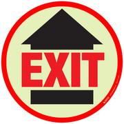 Glow in the Dark Exit Floor SIgn