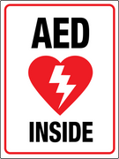 AED inside wall Sign