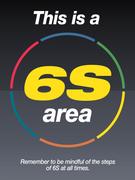 Big 6s Area sign