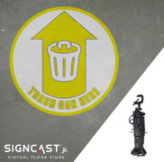 SignCast Jr. Trash Can Here Sign