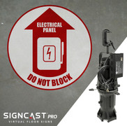 SignCast PRO Electrical Panel Do Not Block Sign