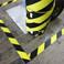 black and yellow hazard floor tape