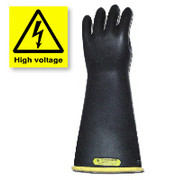 Long High Voltage Rubber Work Gloves