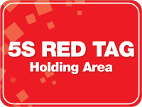 5S Red Tag Area Floor Sign
