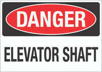 Danger: Elevator Shaft Wall Sign