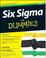 Six Sigma For Dummies Book by Craig Cygi and Bruce Williams
