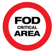 FOD Critical Area Type A (Floor Sign)