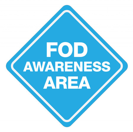 FOD Awareness Area Type B (Floor Sign)