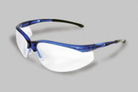Radnor® Select Series Safety Glasses With Blue Frame And Clear Anti-Scratch Lens