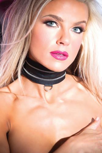 Allure Lingerie Faux Leather Zip Collar