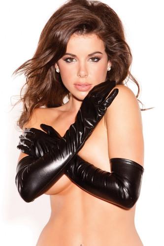 Allure Lingerie Wet Look Long Gloves