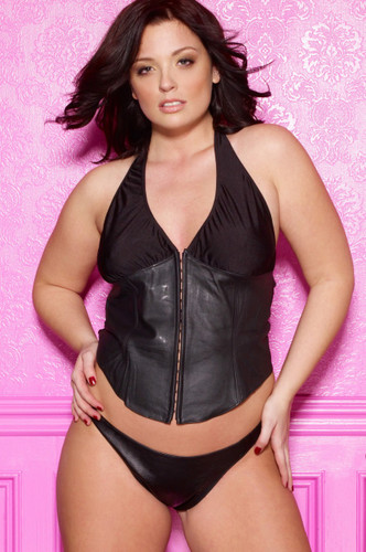 Allure Lingerie Leather and Lycra Bustier