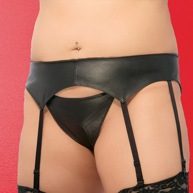 Allure Lingerie Leather 8 Strap Garterbelt