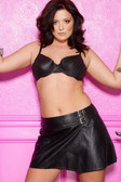 Allure Lingerie Leather School Girl Skirt Plus Size