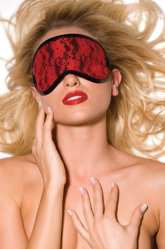 Allure Leather Heartbreaker Vinyl and Lace Blindfold