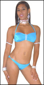 Blue Orchid Exoticwear Mami Doll 2 Pc Rhinestone Short Set 3 Pack