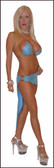 Blue Orchid Exoticwear Sexy Brazil 3 Pc Skirt Set 3 Pack