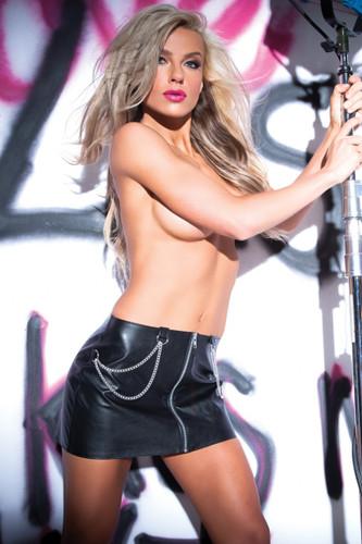 Allure Lingerie Faux Leather Chains Of Pleasure Skirt