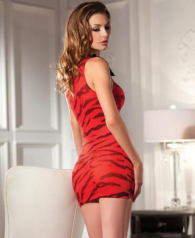 Be Wicked Tiger Print Mini Dress