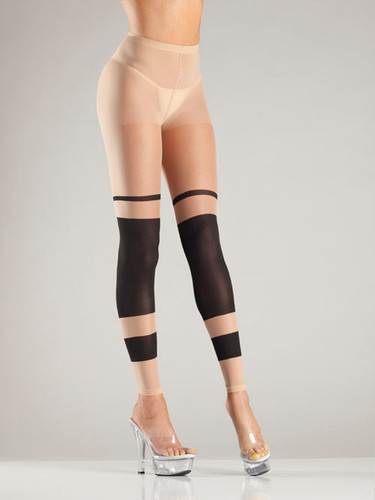 Be Wicked Block Stripe Footless Tights
