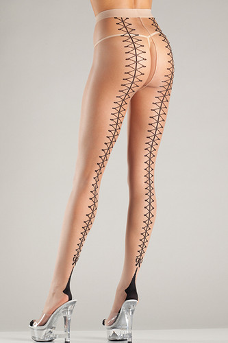 Be Wicked Cuban Heel Tights