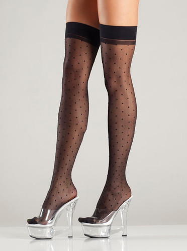 Be Wicked Polka Dot Thigh Highs