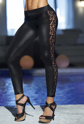 AM PM Leggings with Lace