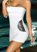 AM PM Strapless Mini Dress - White