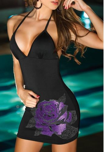 AM PM Halter Mini Dress - Black
