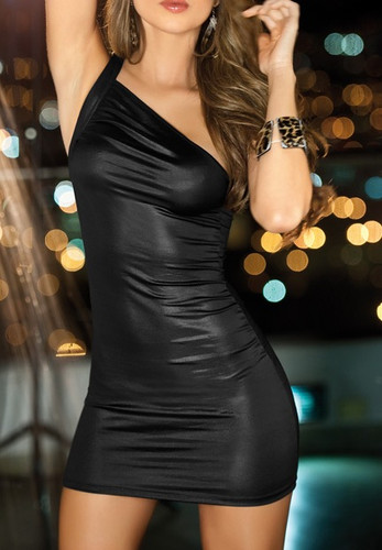 AM PM Asymmetric Dress - Black