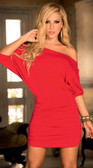 AM PM Loose Top Dress - Red