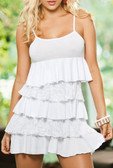 AM PM Dress with Layers of Ruffles - White