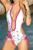 AM PM One Piece Swimsuit with Flower Print
