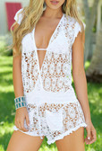 AM PM Short Romper - White