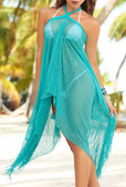 AM PM Fringe Dress/Skirt - Turquoise