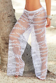AM PM Fishnet Pants - White